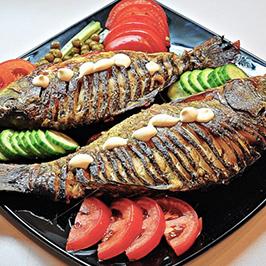 Рыба жареная и запеченная